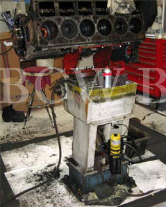 A collection of images of a BCW DS-6010: Pedestal Diesel Engine Repair Stand